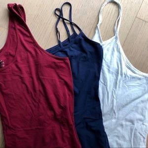 Bundle of 3 Tank Tops - Old Navy Red, Navy, White